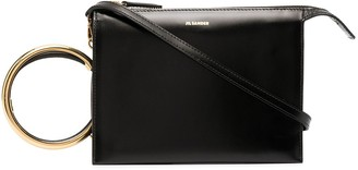 Jil Sander Hoop Wrist-Strap Shoulder Bag