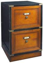 Authentic Models Filing Cabinets & Storage Campaign Black Filing Cabinet, Black/Honey