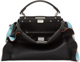 Fendi Black & Blue Mini Peekaboo Bag