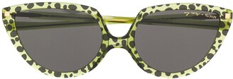 Mykita leopard cat-eye sunglasses