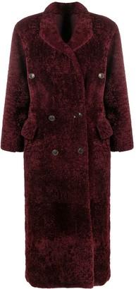 Simonetta Ravizza Paula double-breasted shearling coat