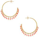 Gorjana Sol Gemstone Hoop Earrings in Metallic Gold.
