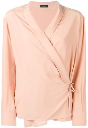 Joseph wrap shirt blouse