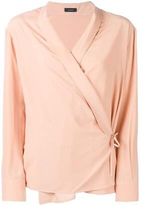 Joseph Wrap Shirt Blouse