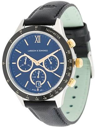 Larsson & Jennings embossed logo buckle watch