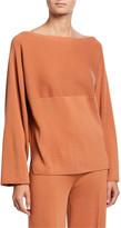 Loro Piana Cashmere Boat-Neck Wide-Sleeve Sweater