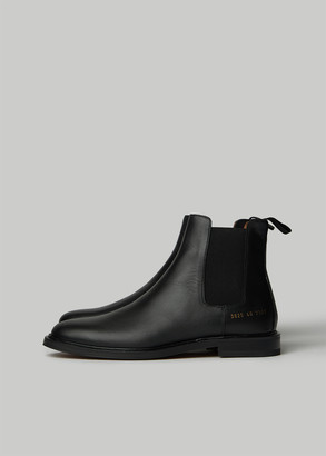 Woman by Common Projects Women's Chelsea Boot in Black Size 37 Calfskin Leather