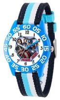 Marvel Boys' Marvel's Civil War Blue Plastic Time Teacher Watch - Multi