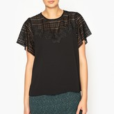 Ikks Short-Sleeved Blouse with Lace Inset