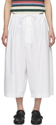 Loewe White Oversized Poplin Shorts