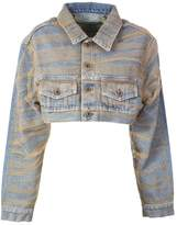 Off-White Off White Crop Denim Jacket