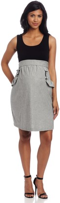 Maternal America Women's Ruffle Pocket Dress