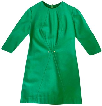 Green Cotton Non Signé / Unsigned Non Signe / Unsigned Dress for Women Vintage