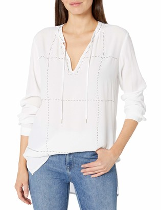 Tribal Women's Long Sleeve Blouse with Studs