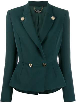 Elisabetta Franchi double breasted fitted blazer