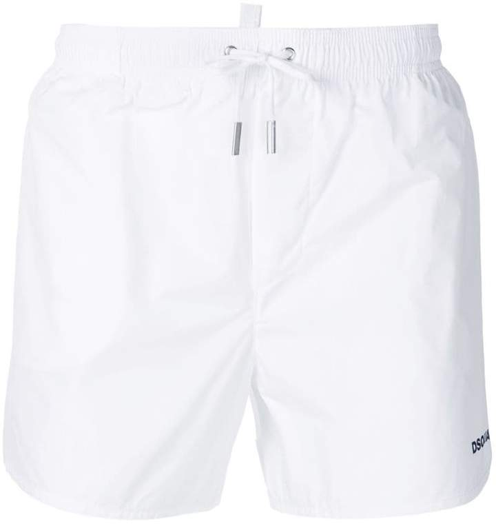 DSQUARED2 drawstring fitted swim shorts
