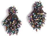 Mignonne Gavigan Burst Beaded Statement Earrings, Black Pattern