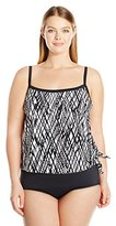 Maxine Of Hollywood Plus Size Stranded Wire-Free One-Piece