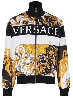 Versace Barocco zipped track jacket
