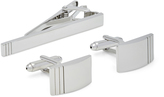 Oxford Cufflinks/Tie Clip Set