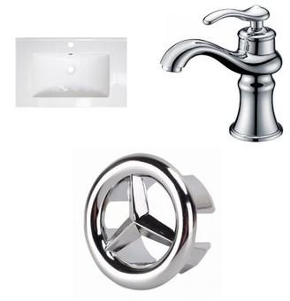 "Latshaw Ceramic 24"" Single Bathroom Vanity Top Alcott Hill"