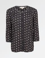 Fat Face Peggy Painted Polka Dot Blouse