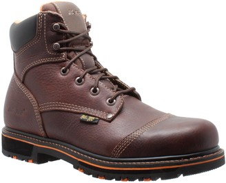 "AdTec Ad Tec Men's 6"" Tumbled Leather Comfort Work Boot Soft Toe (Brown Numeric_7_Point_5)"