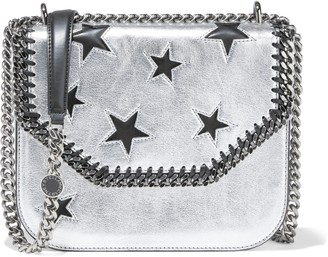 Stella McCartney Falabella Box Cutout Metallic Faux Leather Shoulder Bag