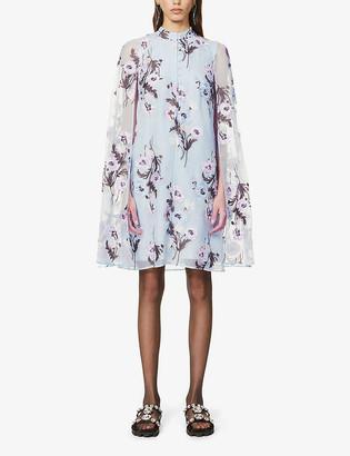 Erdem Caelyn floral-print silk mini dress