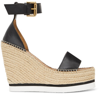 See by Chloe Black Glyn Platform Sandals