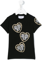 Philipp Plein embellished logo T-shirt - kids - Cotton/Spandex/Elastane/Crystal - 8 yrs