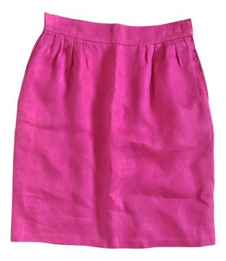 Hermes Pink Linen Skirts