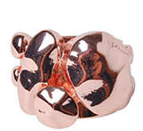 PeepToe Hammered Stone Ring Rose Gold
