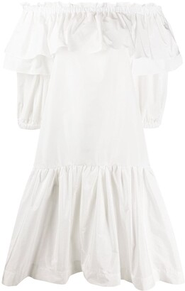 P.A.R.O.S.H. Ruffled Off Shoulder Dress