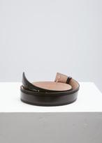 Lemaire Black Large Leather Belt