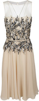Blumarine Macrame Lace Panel Dress