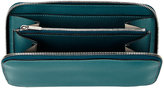 Valextra Women's Zip-Around Wallet-Light green, Turquoise