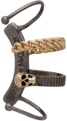 Alexander McQueen Gunmetal Chain Single Ear Cuff