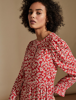 Marks and Spencer Ditsy Floral Midaxi Tiered Dress