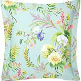 Yves Delorme Bouquets square cotton pillow case