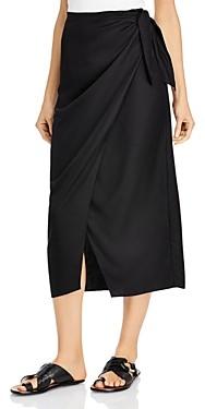 French Connection Gabina Draped Sarong Midi Skirt
