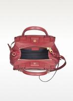 Sonia Rykiel Burgundy Leather Small Day Bag