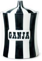 Jonathan Adler Vice Canister - Ganja - Black/White
