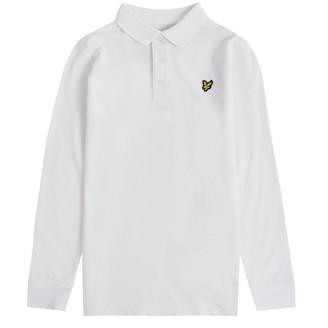 Lyle & Scott Junior Boys Classic Long Sleeve Polo Bright White