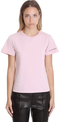 Golden Goose Ania T-shirt In Rose-pink Cotton