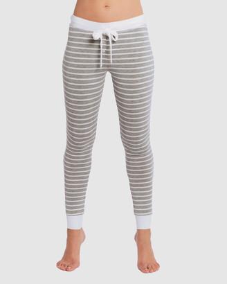 Deshabille Women's Grey Pyjamas - Betty PJ Leggings - Size One Size, L at The Iconic