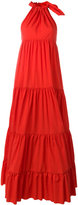 Marques Almeida Marques'almeida - flared maxi dress - women - Polyamide - 10