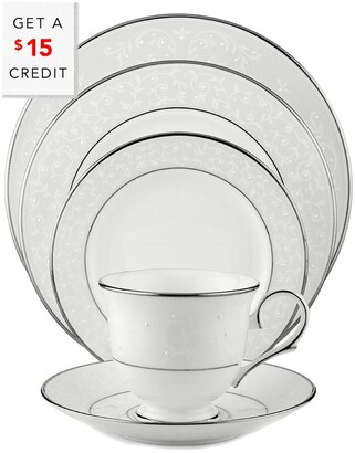 Lenox Opal Innocence 5Pc Dinnerware Set