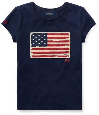 Ralph Lauren Flag Cotton Jersey Tee