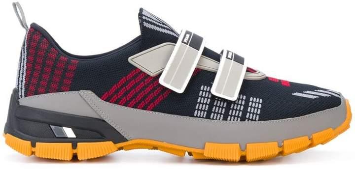 Prada patterned mesh sneakers